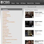 Free videos by CBS channel television
